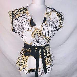 Animal print MONTEAU blouse